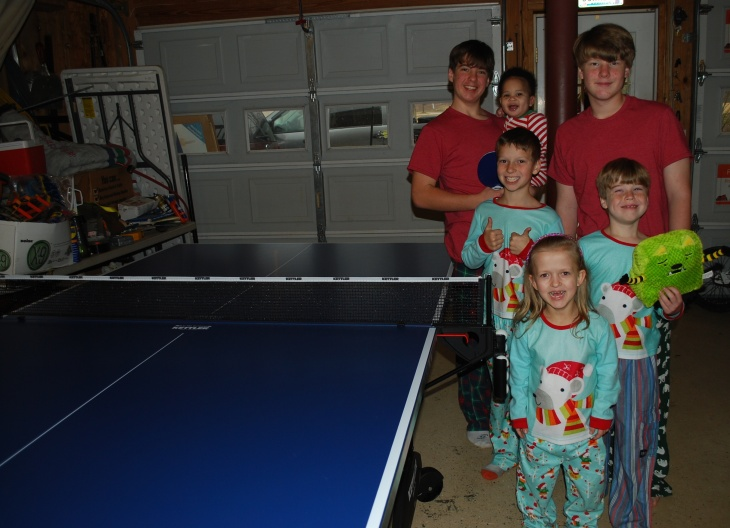 Thank you PawPaw and Mammaw for the family ping pong table!!!!