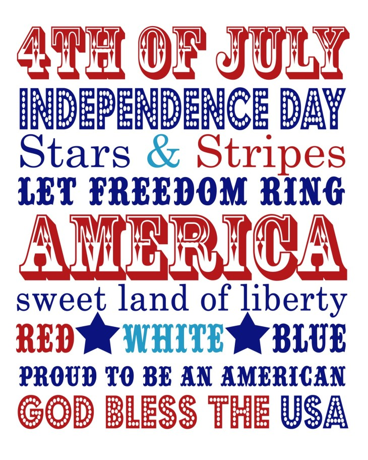 16 x 20 independence day word art copy