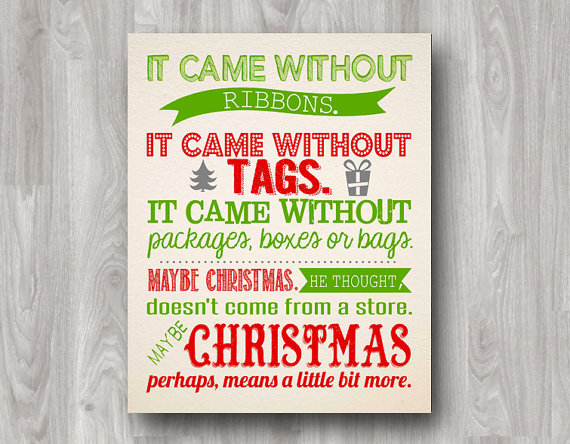 Christmas thoughts by Dr. Seuss!